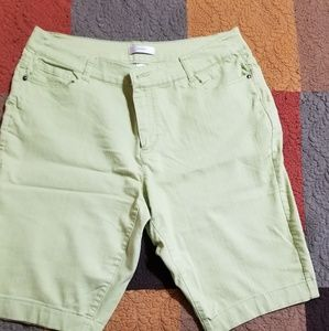 Cj banks celery green shorts